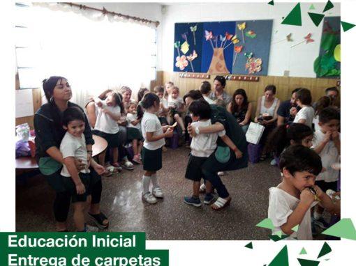 Educación Inicial: entrega de carpetas y evaluaciones