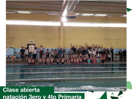 Primaria: 3er. y 4to año clase abierta de natación