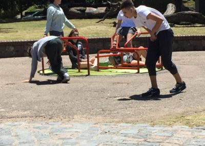 Secundaria: Los alumnos de 2do compartieron una mañana en la Plaza Fabini
