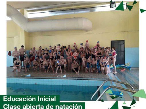 Educación Inicial: clase abierta de natación