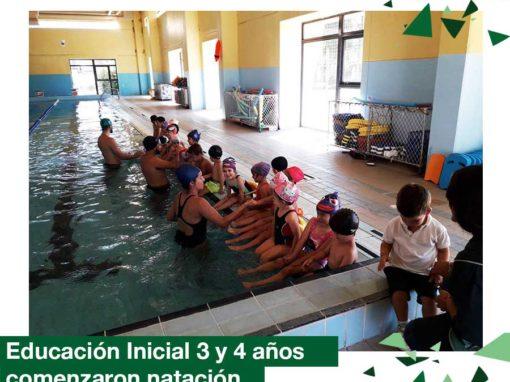 2018: Educacion Inicial 3 y 4 años comenzó natación