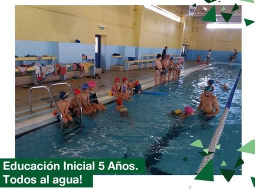 2018. Educación Inicial 5 años a la piscina