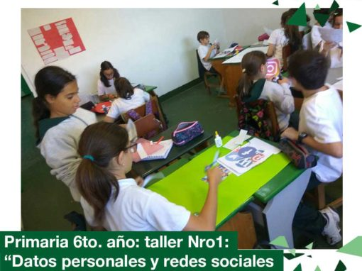 2018: Primaria 6to. año taller nro. 1
