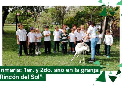 2018: 1er. y 2do. año Primaria en la Granja «Rincón del Sol»