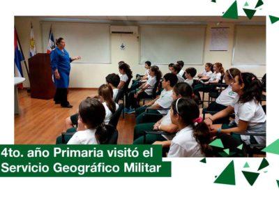 2018: 4to. año de Primaria visitó el Servicio Geográfico Militar
