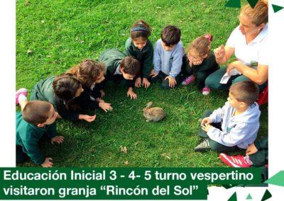 2018: Educación Inicial visitó la granja «Rincón del Sol»