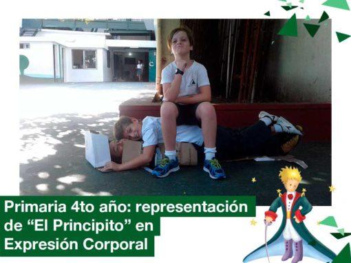 """2018 4to. año Primaria en Expresión Corporal representan """"El Principito"""""""
