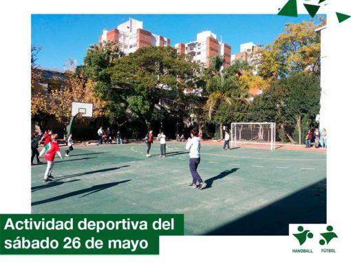 2018: Actividad deportiva del sábado 26 de mayo