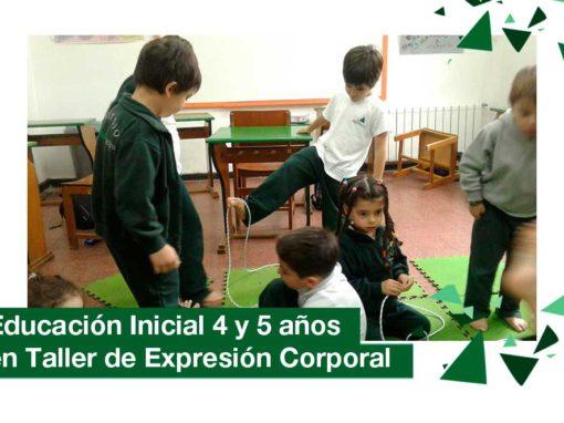 2018: Educación Inicial 4 y 5 años en Taller de Expresión Corporal