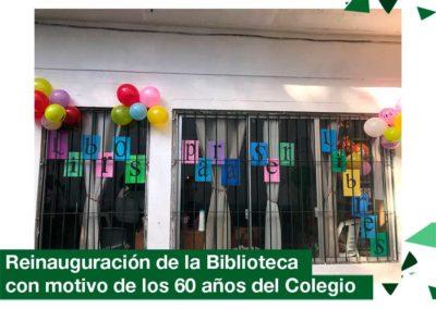 2018: Re inauguración de la Biblioteca del Colegio con motivo de los 60 años