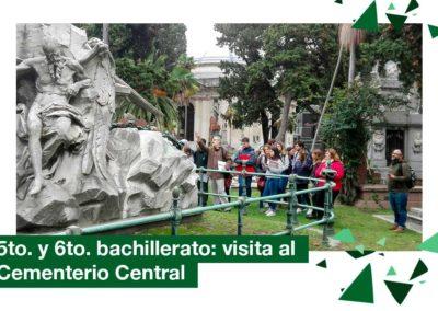2018: 5to. y 6to. Bachillerato visita al Cementerio Central