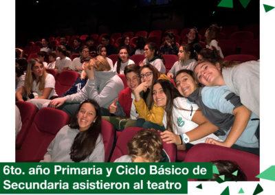 2018: 6to. año de Primaria y Ciclo básico de Secundaria en el teatro