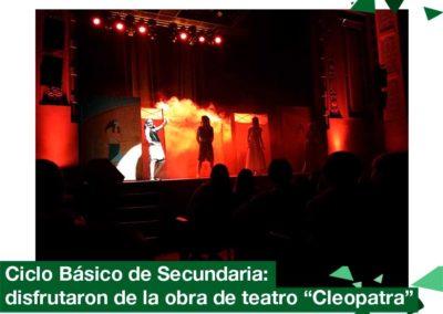"""2018: Ciclo Básico de Secundaria disfrutaron de la obra """"Cleopatra"""""""