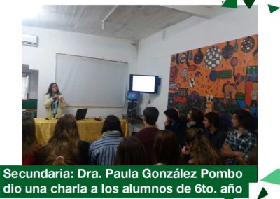 2018: Visita de la Dra. Paula González Pombo
