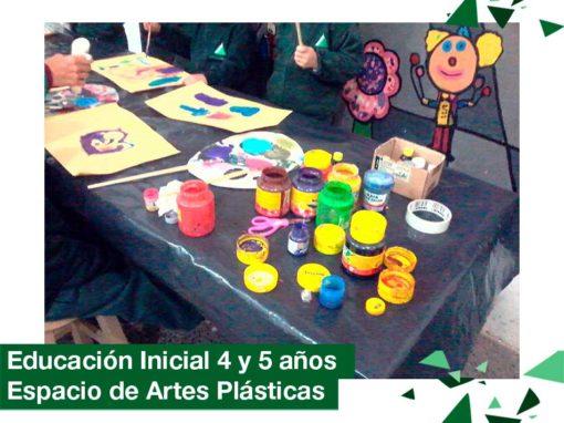 2018: Educación Inicial 4 y 5 años en el  Espacio de Artes Plásticas