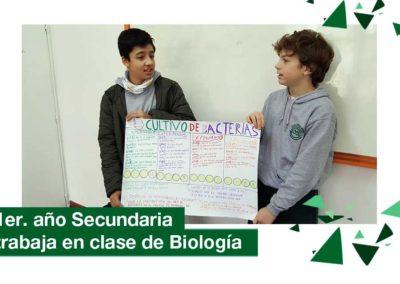2018: 1er. año Secundaria en clase de Biología