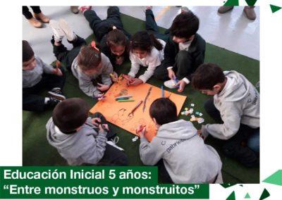 """2018: Ed. Inicial 5 años, """"Entre monstruos y monstruitos"""""""