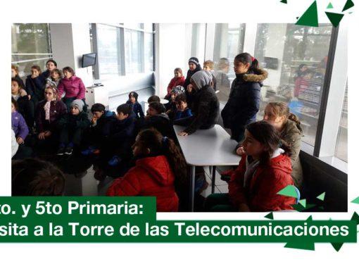 2018: 4to. y 5to. primaria visitaron la Torre de las Telecomunicaciones