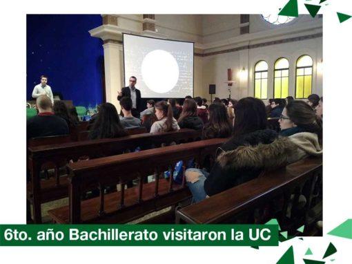 2018: 6to. año bachillerato visitó la UC