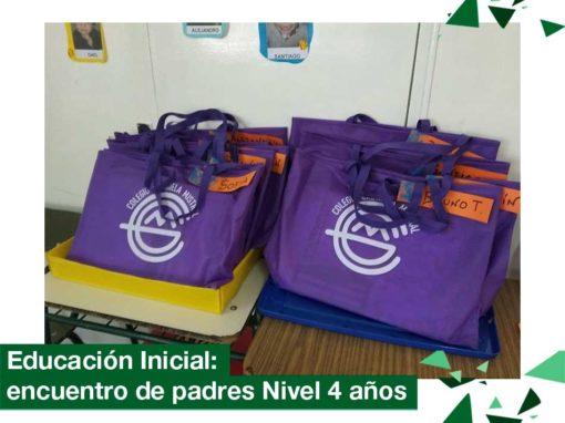 2018: Educación Inicial, encuentro de padres Nivel 4 años