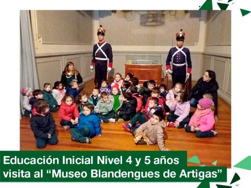 2018: Educación Inicial Nivel 4 y 5 años visitó el Museo Blandengues de Artigas