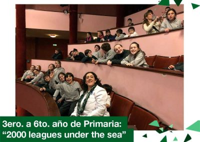 2018: 3ro. a 6to. año de Primaria «2000 leagues under the sea»