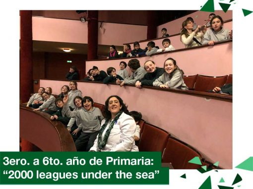 "2018: 3ro. a 6to. año de Primaria ""2000 leagues under the sea"""