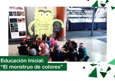 2018: Educación Inicial al Teatro. «El monstruo de colores»