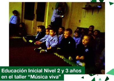 """2018: Educación Inicial 2 y 3 años en el Taller """"Música Viva"""