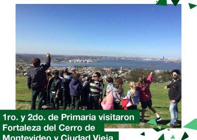 2018: 1ro y 2do Primaria visitaron Fortaleza del Cerro de Montevideo y Ciudad Vieja.