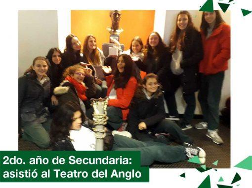 2018: 2do. año de Secundaria asistió al Teatro del Anglo