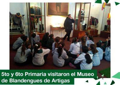 2018: 5to y 6to Primaria visitaron el Museo de Blandengues de Artigas