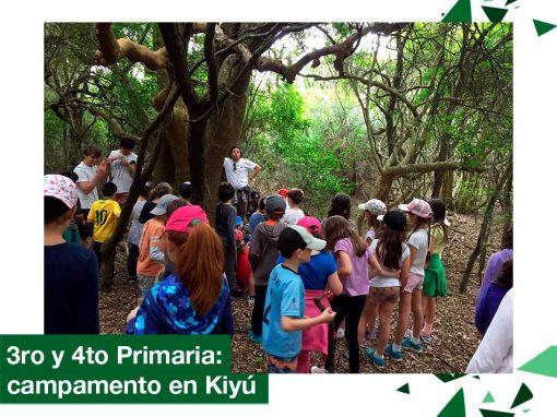2018: 3ro y 4to Primaria, campamento en Kiyú.