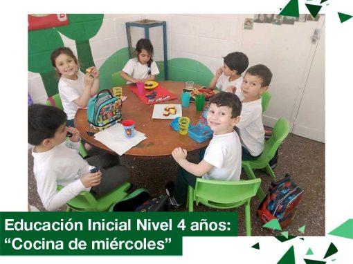 """2018: Educación Inicial Nivel 4 años, """"Cocina de miércoles"""""""