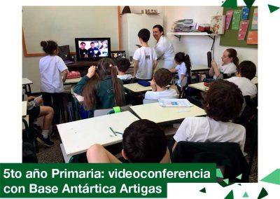 2018: 5to año de Primaria en videoconferencia con Base Antártica Artigas