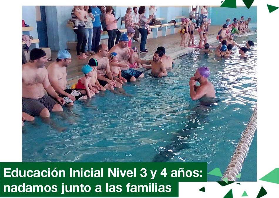 2018: Educación Inicial Nivel 3 y 4 años en natación