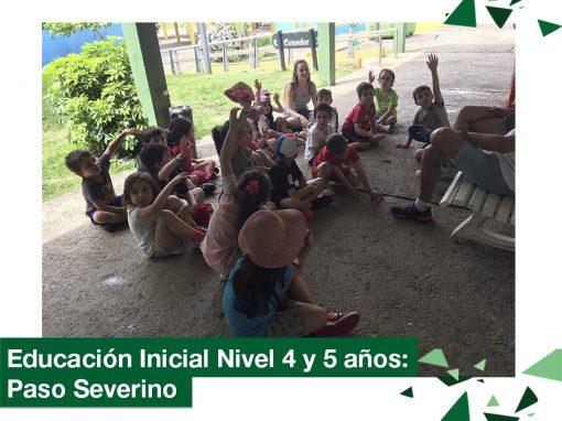 2018: educación Inicial nivel 4 y 5 años de campamento en Paso Severino