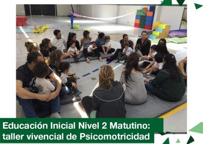 2018: Educación inicial nivel 2 años matutino: taller de psicomotricidad