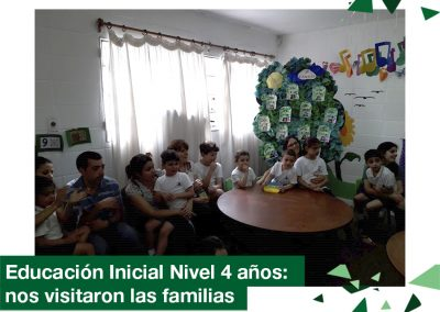 2018: Educación Inicial Nivel 4, nos visitaron las familias.