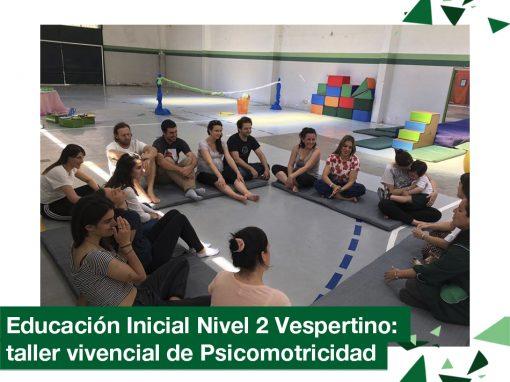 2018: Educación inicial nivel 2 años vespertino en taller de psicomotricidad