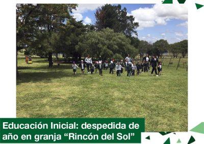 2018: Educación Inicial despidió el año en granja «Rincón del Sol».