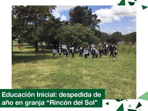 """2018: Educación Inicial despidió el año en granja """"Rincón del Sol""""."""
