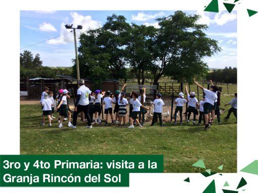 2018: visita a la Granja Rincón del Sol (3ro y 4to Primaria)