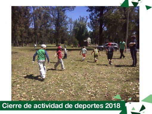 2018: Actividad de cierre de deportes