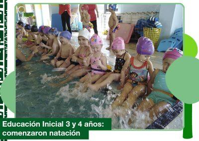 2019: Educación Inicial 3 y 4 años comenzaron natación