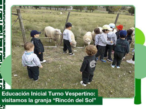 2019: Educación Inicial (Vespertino) visitó la granja «Rincón del Sol»