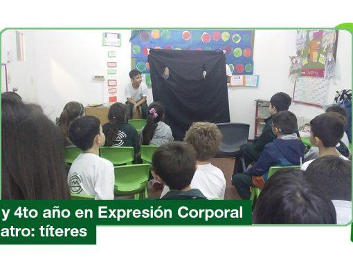 2019: títeres en Expresión Corporal y Teatro (3ro y 4to Primaria)