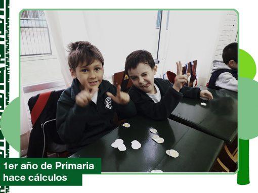 2019: 1er año de Primaria haciendo cálculos con el Cine Pancho.