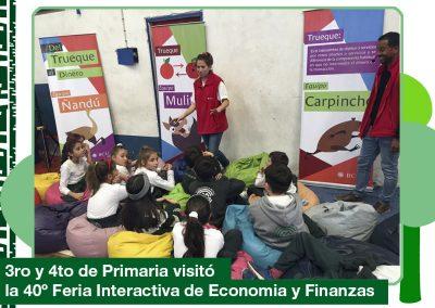 2019: 3ro y 4to de Primaria visitó la 40 Feria Interactiva de Economía y Finanzas.