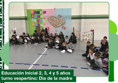 2019: Día de la madre en Ed. Inicial 2, 3, 4 y 5 años Turno Vespertino